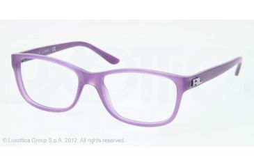 Ralph Lauren RL6101 Progressive Prescription Eyeglasses 5337-52 - Violet Opal Frame, Demo Lens Lenses