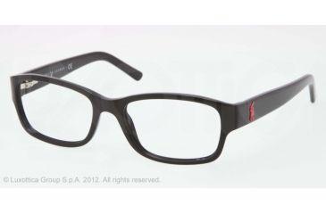 Ralph Lauren RL6103 Progressive Prescription Eyeglasses 5001-51 - Black Frame, Demo Lens Lenses