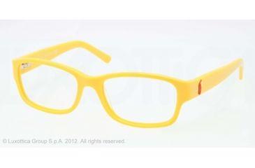 Ralph Lauren RL6103 Progressive Prescription Eyeglasses 5416-51 - Yellow Frame, Demo Lens Lenses