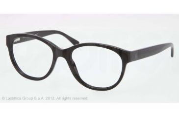 Ralph Lauren RL6104 Progressive Prescription Eyeglasses 5001-50 - Black Frame, Demo Lens Lenses