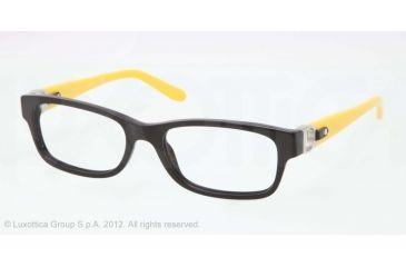Ralph Lauren RL6106Q Progressive Prescription Eyeglasses 5001-51 - Black Frame, Demo Lens Lenses