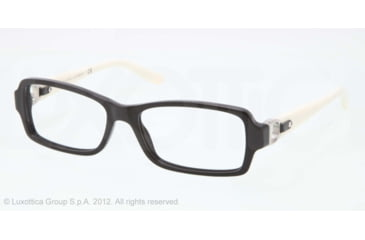 Ralph Lauren RL6107Q Single Vision Prescription Eyeglasses 5001-53 - Black Frame, Demo Lens Lenses