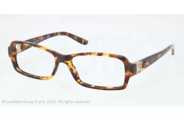 Ralph Lauren RL6107Q Single Vision Prescription Eyeglasses 5134-53 - Antique Tortoise Frame, Demo Lens Lenses