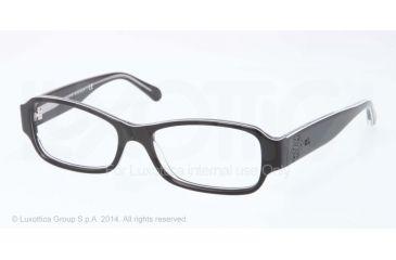 Ralph Lauren RL6110 Eyeglass Frames 5448-51 - Black/white/trasparent Frame