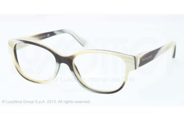 Ralph Lauren RL6112 Eyeglass Frames 5445-52 - Horn Vintage Effect Frame