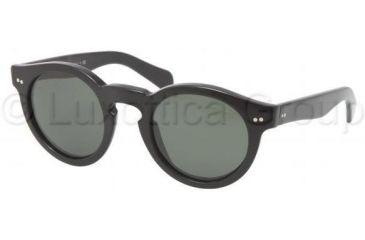 Ralph Lauren RL8071W Sunglasses 500152-4623 - Black Frame, Crystal Green Lenses