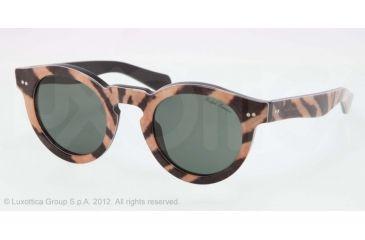 Ralph Lauren RL8071W Sunglasses 543752-46 - Tiger Frame, Grey-Green Lenses