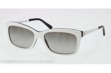 Ralph Lauren RL8093 Sunglasses 539211-56 - Top White/Black