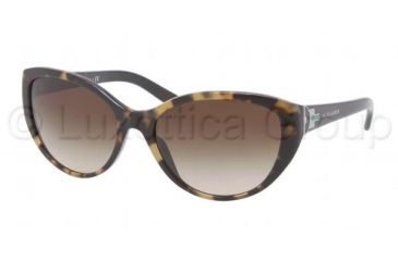 Ralph Lauren RL8098 Sunglasses 501013-5817 - Top Havana / Black Frame, Brown Gradient Lenses