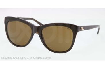 Ralph Lauren RL8105 Sunglasses 540973-56 - Green Frame, Brown Lenses