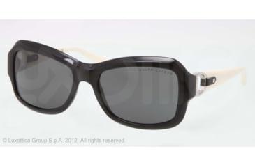 Ralph Lauren RL8107Q Sunglasses 500187-55 - Black Frame, Gray Lenses