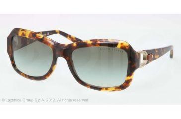 Ralph Lauren RL8107Q Sunglasses 51348E-55 - Antique Tortoise Frame, Green Gradient Lenses