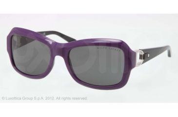 Ralph Lauren RL8107Q Sunglasses 541287-55 - Pastel Violet Frame, Gray Lenses