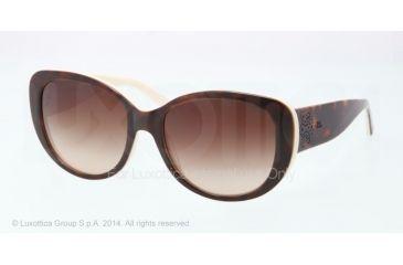 Ralph Lauren RL8114 Sunglasses 545113-56 - Top Dark Havana On Cream Frame, Gradient Brown Lenses