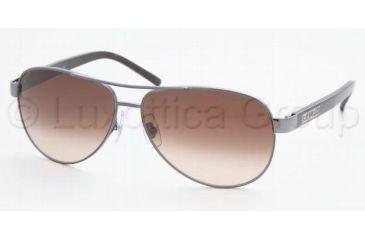 Ralph RA 4004 Sunglasses Styles - Gunmetal/Grey Horn Brown Gradient Frame, 103-13-5913