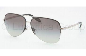 Ralph RA 4090 RA4090 Sunglasses 384/11-6113 - Black Frame, Silver Gray Gradient Lenses