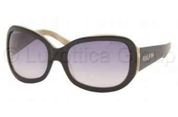 Ralph RA5013 Progressive Prescription Sunglasses RA5013-520-11-5818 - Lens Diameter 58 mm, Frame Color Black / Ivory Horn
