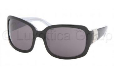 Ralph RA5031 Single Vision Prescription Sunglasses RA5031-550-87-5819 - Lens Diameter 58 mm, Frame Color Black / White / Crystal