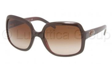 Ralph RA5047 Progressive Prescription Sunglasses RA5047-648-13-5719 - Lens Diameter 57 mm, Frame Color Wine