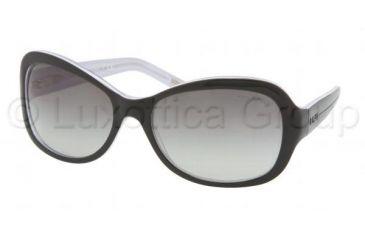Ralph RA 5109 Sunglasses, Black/White/Crystal Frame / Gray Gradient Lenses, 550 11 6118