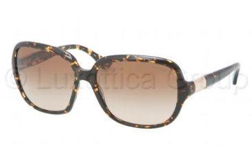 Ralph RA 5149 RA5149 Sunglasses 108713-5815 - Amber Tort Frame, Brown Gradient Lenses