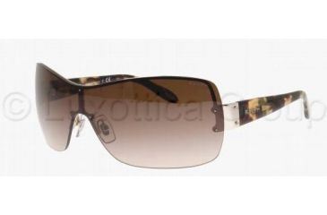 Ralph RA4085 Sunglasses 102/13-0138 - Light Silver Frame, Brown Gradient Lenses