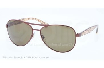 Ralph RA4108 Sunglasses 104/83-59 - Brown Frame, Brown Solid Polarized Lenses