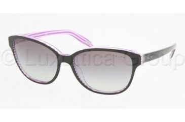 Ralph RA5128 RA5128 Sunglasses 960/11-5515 - Black/Purple Stripes Gray Gradient