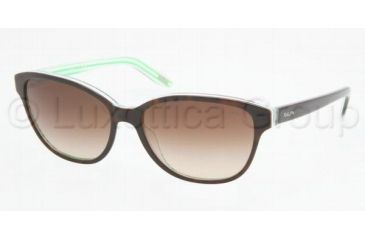 Ralph RA5128 RA5128 Sunglasses 976/13-5515 - Dark Tortoise/Green Stripes Brown Gradient