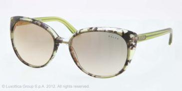 Ralph RA5161 RA5161 Bifocal Prescription Sunglasses RA5161-115323-57 - Lens Diameter 57 mm, Frame Color Green Tort