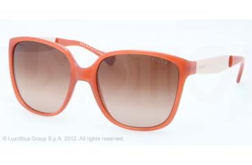 Ralph RA5173 Sunglasses 121113-55 - Tangerine Frame, Brown Gradient Lenses