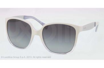 Ralph RA5173 Sunglasses 790/T3-55 - White Crystal Frame, Grey Gradient Polarized Lenses