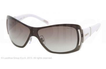 Ralph RA4026 Single Vision Prescription Sunglasses RA4026-192-11-35 - Lens Diameter 135 mm, Lens Diameter 35 mm, Frame Color Matte Silver/white Marble