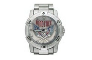 RAM Instrument V1D5003 Chrome Biker Watch Ride Free Skull With Wings
