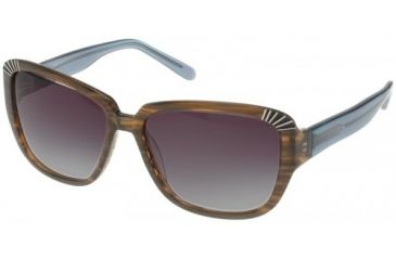 Randees Kandees  5 Sunglasses - Black-Red Leopard Frame, Grey Gradient Lenses  57-15-135 RK5-321