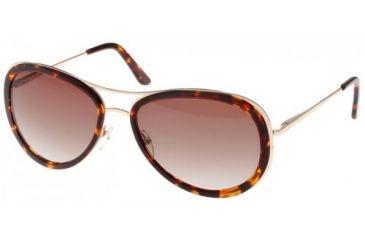 Randees Kandees  7 Sunglasses - Tortoise-Gold Frame, Brown Gradient Lenses  58-15-135 RK7-200