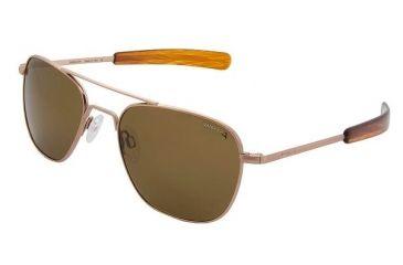 df7fe5e142bb Randolph Aviator Rose Gold Satin Sunglasses