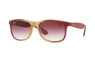58efd8ec553 Ray-Ban ANDY RB4202 Sunglasses 63698H-55 - Grad Bord On Rubber Lt Pink