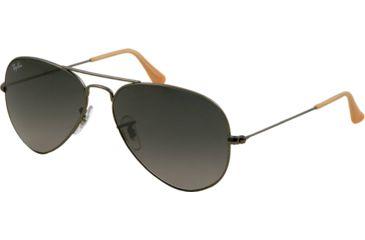 Ray-Ban Aviator Large Metal Bifocal Sunglasses RB3025 with Lined Bi-Focal Rx Prescription Lenses RB3025-029-71-5514 - Lens Diameter 55 mm, Frame Color Matte Gunmetal
