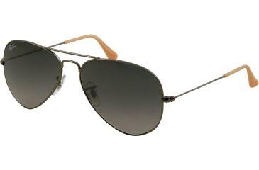 Ray-Ban Aviator Large Metal Bifocal Sunglasses RB3025 with Lined Bi-Focal Rx Prescription Lenses RB3025-029-71-5814 - Lens Diameter 58 mm, Frame Color Matte Gunmetal