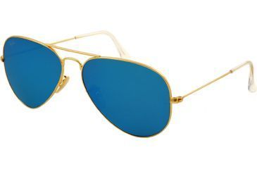 Ray-Ban Aviator Large Metal Bifocal Sunglasses RB3025 with Lined Bi-Focal Rx Prescription Lenses RB3025-112-17-5514 - Lens Diameter 55 mm, Frame Color Matte Gold