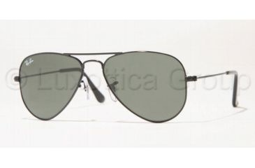 Ray-Ban Aviator Small Metal Sunglasses RB3044 L2848-5214 - Black Frame, Crystal Green Lenses