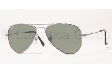 Ray-Ban Aviator Small Metal RB3044 Sunglasses with No-Line Progressive Rx Prescription Lenses RB3044-W3100-5214 - Frame Color Gunmetal, Lens Diameter 52 mm