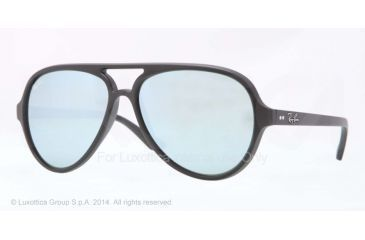 Ray-Ban Cats 5000 Sunglasses RB4125 601S30-59 - Matte Black Frame, Green Mirror Silver Lenses