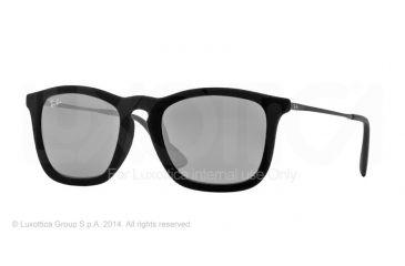 Ray-Ban CHRIS RB4187 Progressive Prescription Sunglasses RB4187-60756G-54 - Lens Diameter 54 mm, Frame Color Flock Black