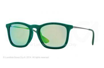 Ray-Ban CHRIS RB4187 Progressive Prescription Sunglasses RB4187-60823R-54 - Lens Diameter 54 mm, Frame Color Flock Green