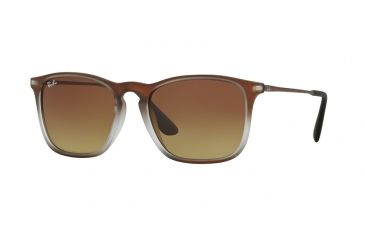 2315e6ff851 Ray-Ban CHRIS RB4187 Sunglasses 622413-54 - Brown Shot On Black Frame