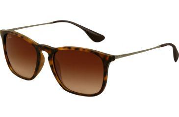 Ray-Ban CHRIS RB4187 Progressive Prescription Sunglasses RB4187-856-13-5418 - Lens Diameter 54 mm, Frame Color Rubber Havana