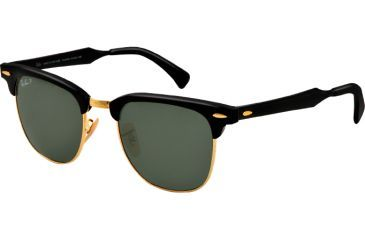 Ray-Ban CLUBMASTER ALUMINUM RB3507 Bifocal Prescription Sunglasses RB3507-136-N5-49 - Lens Diameter 49 mm, Lens Diameter 49 mm, Frame Color Black/Arista