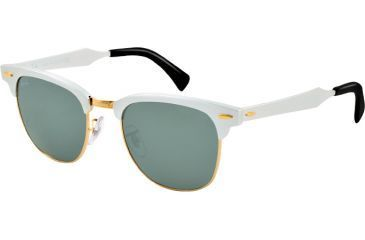 Ray-Ban CLUBMASTER ALUMINUM RB3507 Bifocal Prescription Sunglasses RB3507-137-40-51 - Lens Diameter 51 mm, Lens Diameter 51 mm, Frame Color Brushed Silver/arista